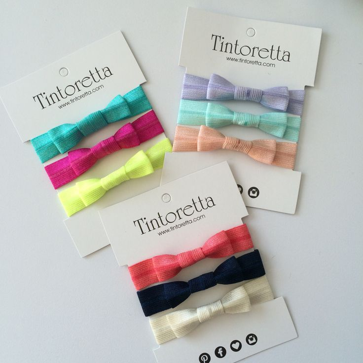 Bow hairties #tintoretta #tintorettastyle #hairties