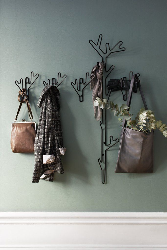 Twig Hanger is part of our Nature Collection and a stylish clothing hanger. Made of recycled metal wire and with the outlines of a twig, it's safe to say it is inspired by nature  #mazeinterior #hallway #scandinaviandesign
