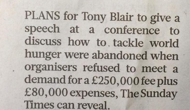 Rest of us still paying the price for his mistakes over WMD RT @PickardJE: Blair's £16,500 a minute speaking fee