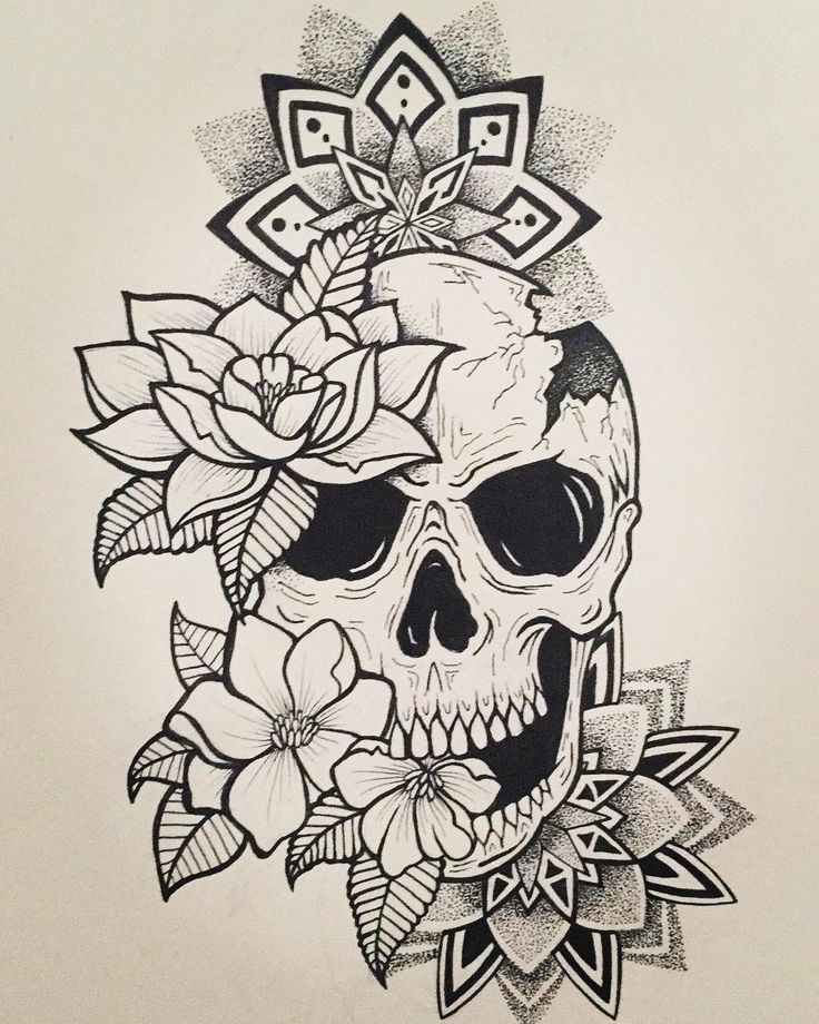 Youtube Videos Youtube In 2020 Floral Skull Tattoos Skull Tattoos Skull Tattoo Design