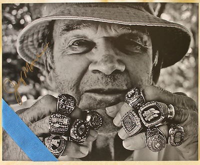 Appalachian State Football Jerry Moore Hand Signed Rings Photo Black White | eBay