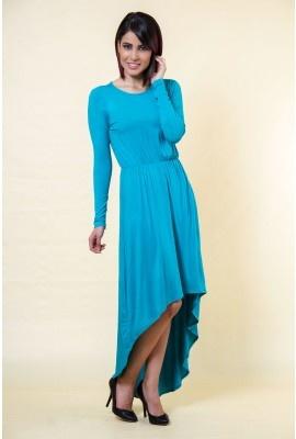 Abaya Addict Turquoise Cotton Maxi Dress | www.abayaaddict.com