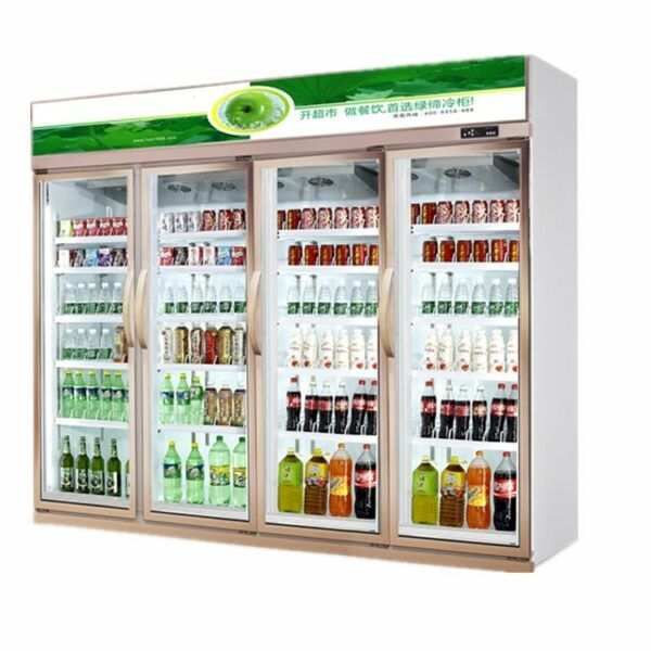 Glass Door Display Showcase Bottle Refrigerator Beer Cold Drink Freezer In 2020 Adjustable Shelving Drink Display Glass Door