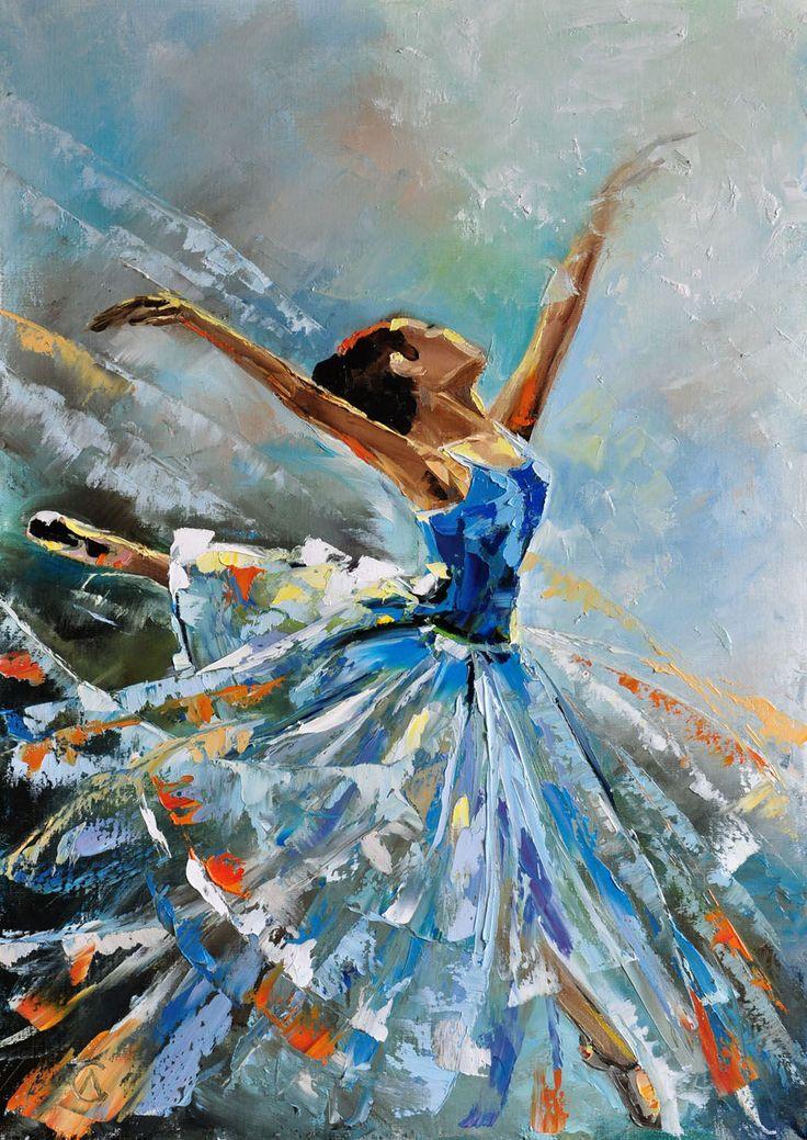 Купить Картина маслом «Балерина» - картина маслом, картина ...