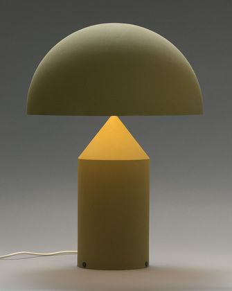 Beautiful how only a part of the stand is lit up. Vico Magistretti . atollo,1977 #lamp #design