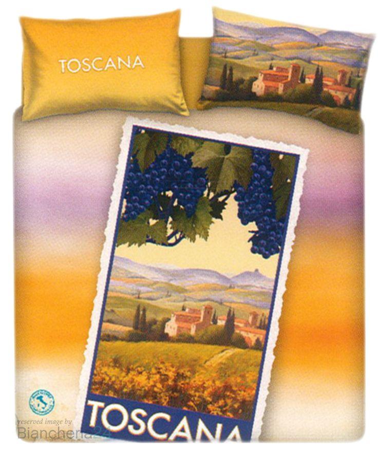 Completo copripiumino Toscana della linea Souvenir imagine Bassetti, una linea di copripiumini dedicati alle più belle località turistiche Italiane, la stampa presenta una cartolina della Toscana regione ricca di profumi e sapori con le sue colline colorate durante il periodo della vendemmia, le federe hanno una stampa double face. www.biancheria24.it