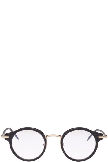 Том Браун - Black & Gold Круглые очки