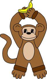 M is for Monkey - Monkey doorknob hanger craft from DLTK website
