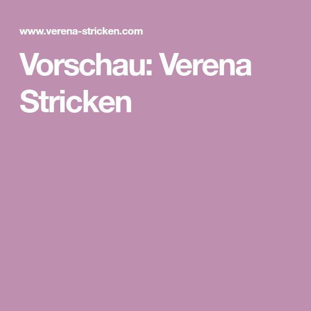 Vorschau: Verena Stricken