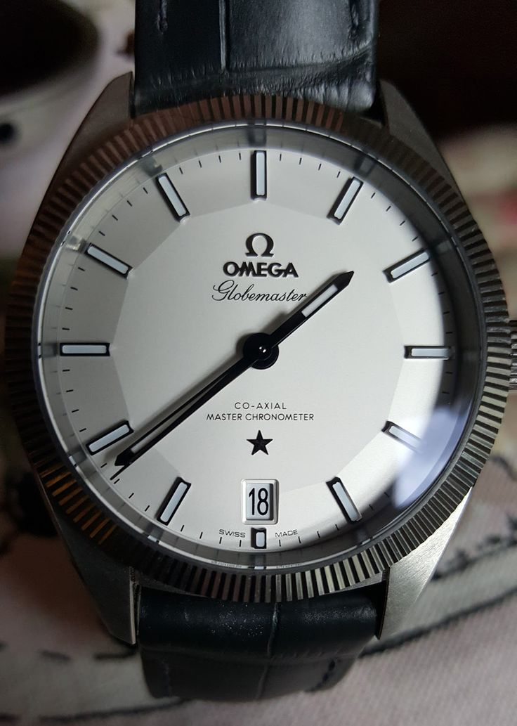 Omega Globemaster - steel with grey strap