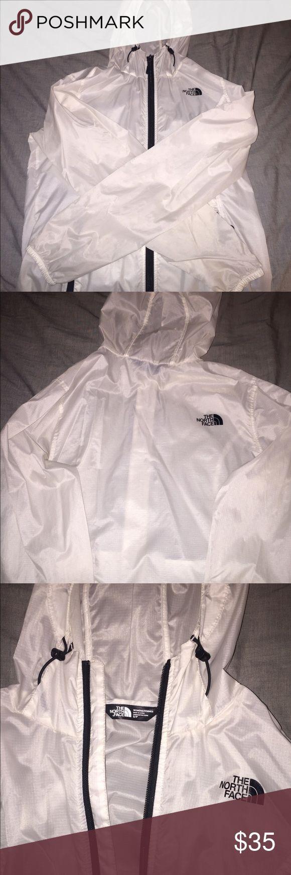 North Face Windbreaker/Rainjacket White/see through North Face, size small. The North Face Jackets & Coats