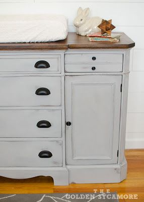 Nursery Progress : Updated Dresser / Changing Table for the Little One - The Golden Sycamore