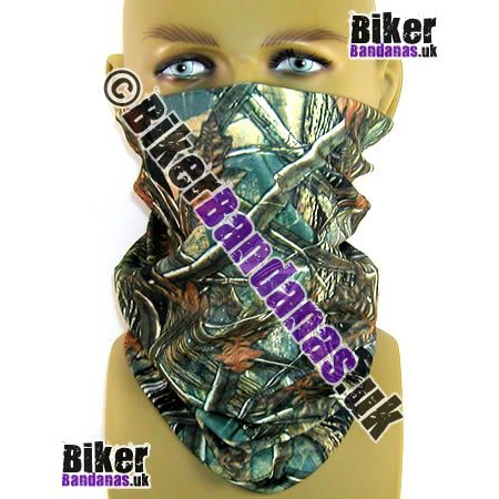 Winter Trees Camouflage Multifunctional Headwear / Neck Tube Bandana.  One of over 400 Styles for Men and Women