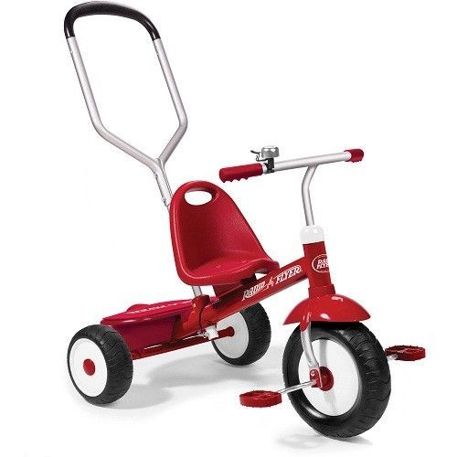 Kids Tricycles Triikes Deluxe Red Outdoor Play Ride Push Bike Learning Boys Girl
