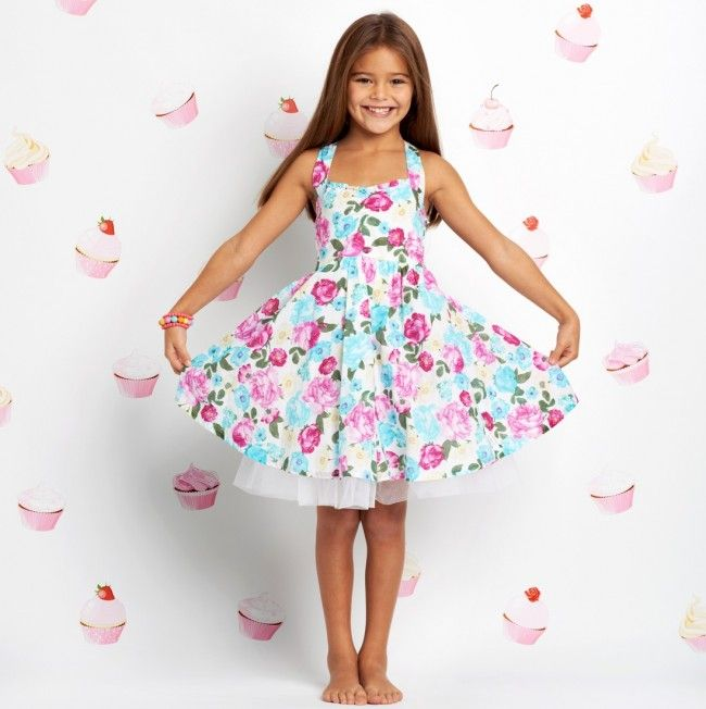 Seafolly Girls Party Dress - Cottage Garden