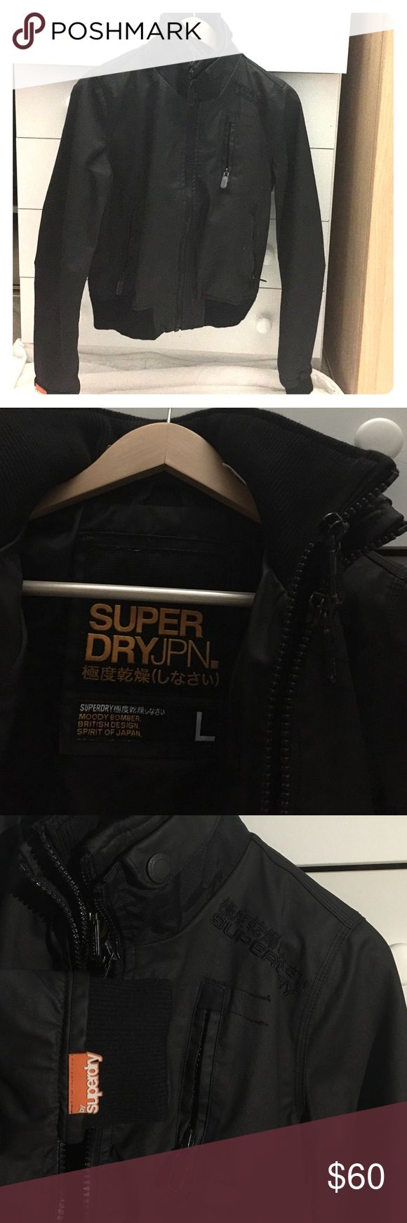 """Superdry Jacket Superdry jacket """"moody bomber"""" . In good condition . No rip, no stain, no tear. Unisex. Can fit a size small or medium in woman. Superdry Jackets & Coats Utility Jackets"""