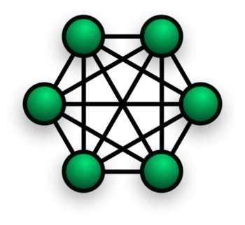 Network topology Mesh topology http://www.siteforinfotech.com/2014/05/it-officer-exam-objective-questions.html