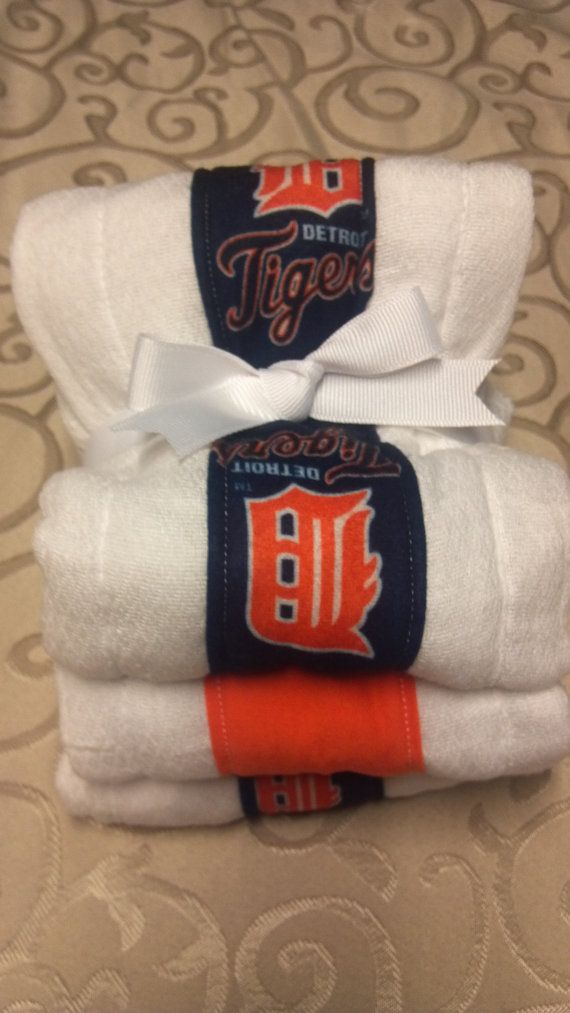 3+Pack+Detroit+Tigers+Baby+Burp+Cloths+by+RachelSewCrazy+on+Etsy,+$10.00