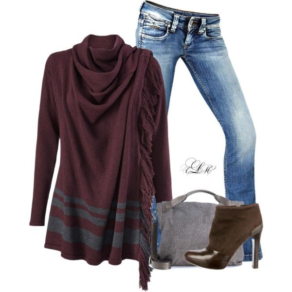 Fall Dreams by tmlstyle on Polyvore featuring Fendi, Borbonese, CAbi and Pepe Jeans London