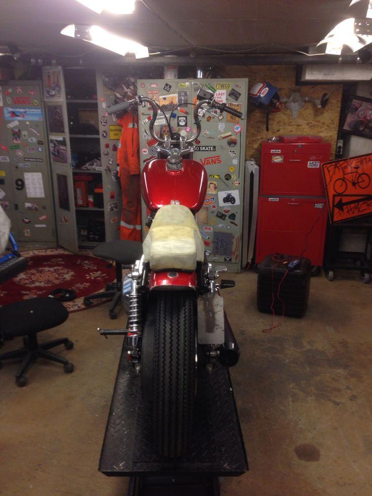 The MOD moto FXR ready for tear down.