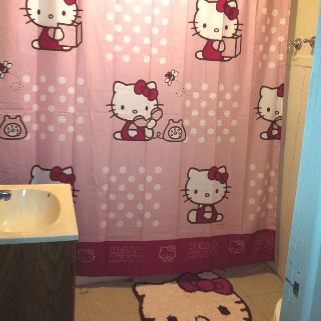 Brilliant Redandwhitehellokittybathroomhellokittyfacebathroomwalltile