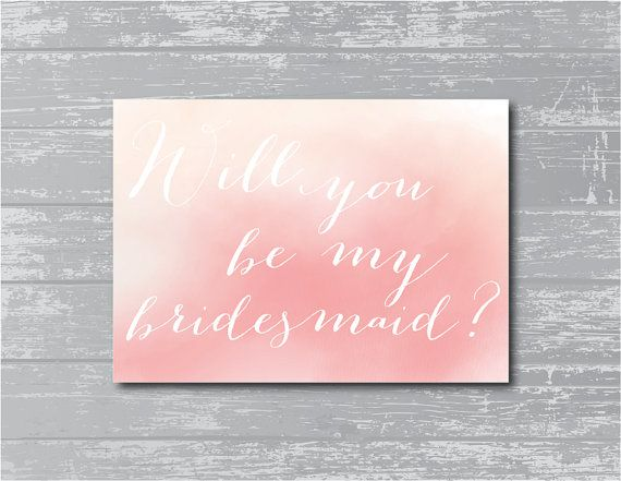INSTANT DOWNLOAD  Watercolor Will You Be My by CreativePapier, $4.00