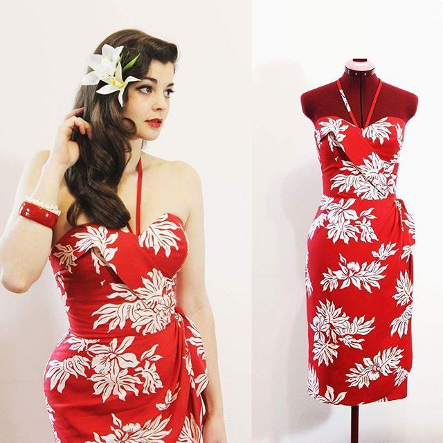 New Hawaiian sarong dress! www.oceanfrontboutique.etsy.com #wrapdress #sarong…