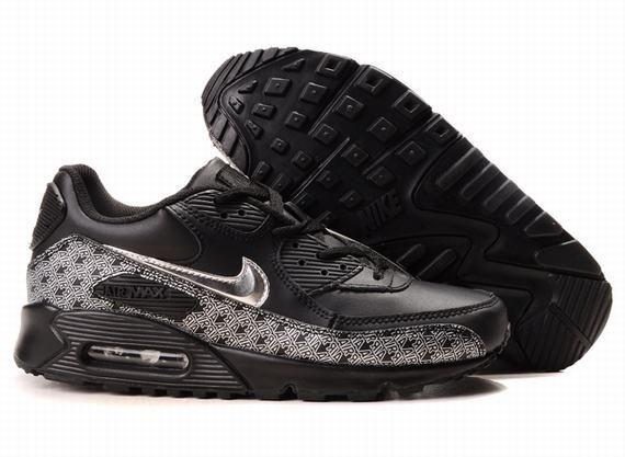 https://www.kengriffeyshoes.com/nike-air-max-90-black-silver-p-776.html Only$72.78 #NIKE AIR MAX 90 BLACK SILVER #Free #Shipping!