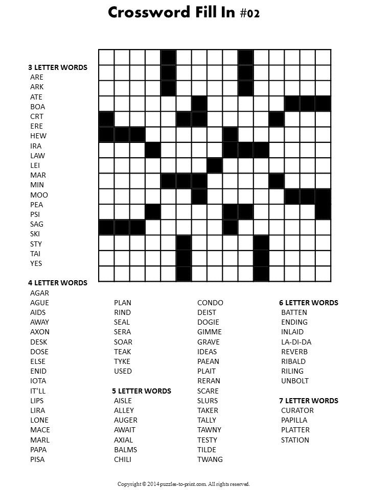 Printable Fill In Puzzle Crossword Fill In Puzzles Printable Vocabulary Builders Fill In Puzzles Retail Resume Examples Printable Crossword Puzzles