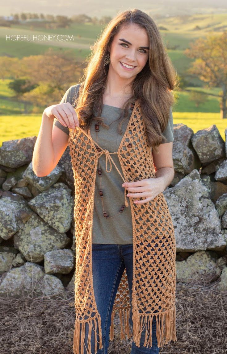 253 best Vest images on Pinterest | Crochet batwing tops, Crochet ...