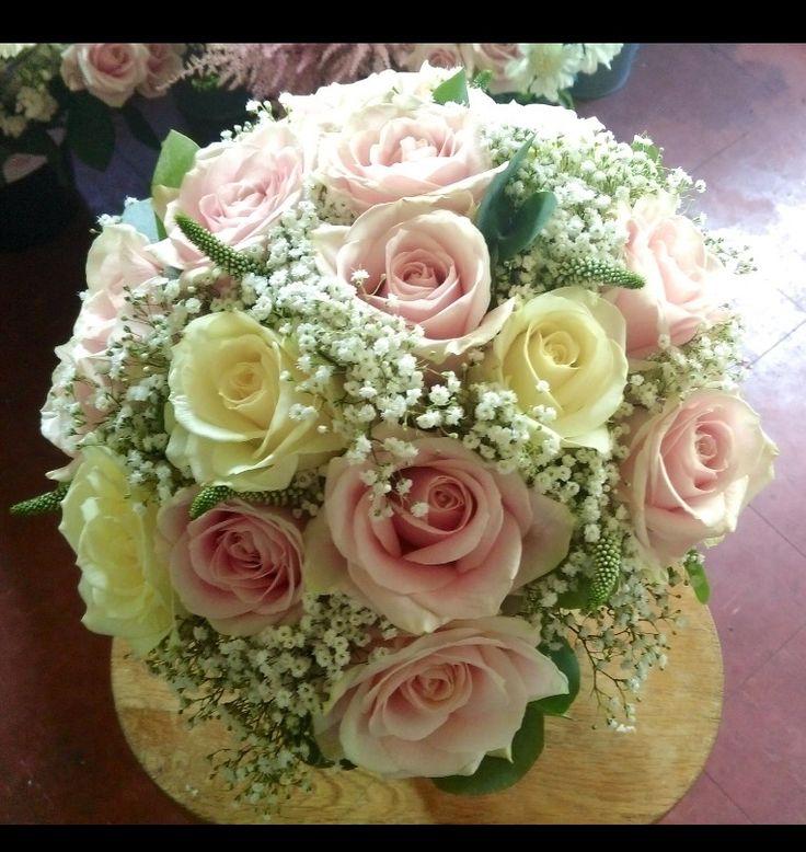 Wedding Bouquet love love love   Arbour florist Lincoln http://www.arbourflorists.com  https://www.facebook.com/thearbourlincs  Roses gypsophila Veronica