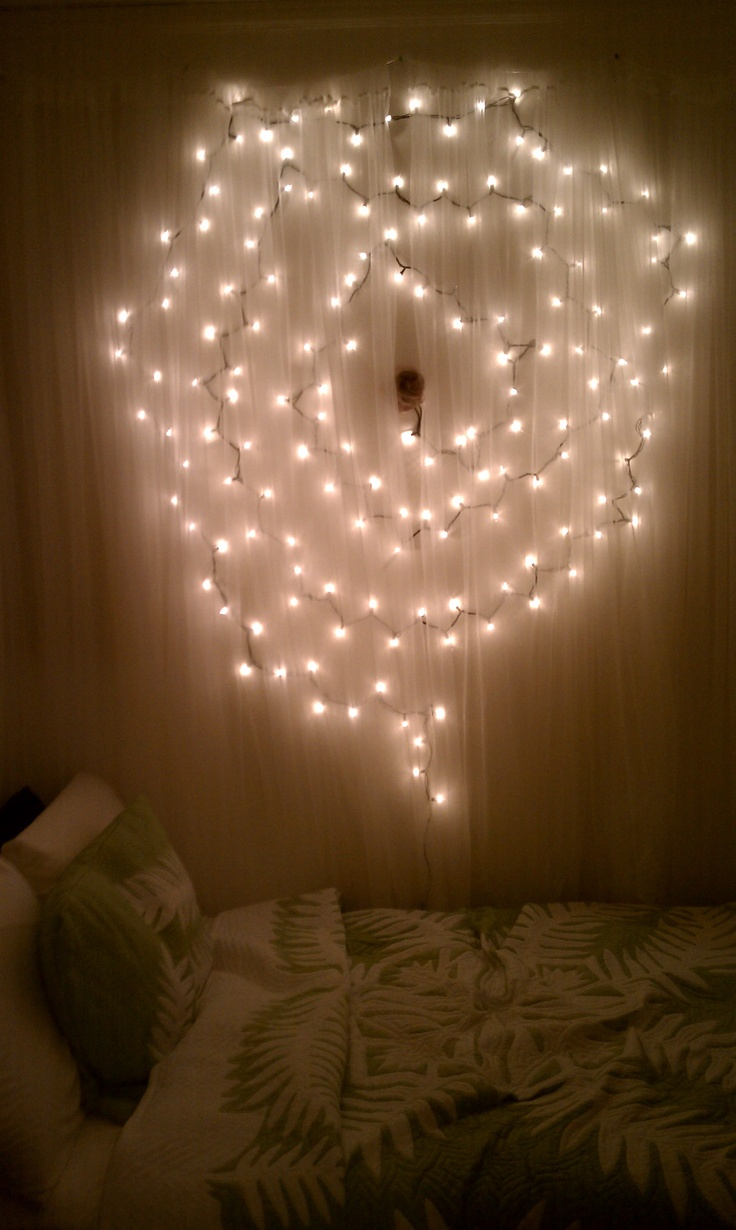 19 best christmas lights inside and outside ideas images on wall art and soft lighting for the bedroom i took my extra christmas lights and pinned them up to the wall in a circular pattern audiocablefo