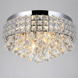 Antonia Ornate Crystal Flush Mount Chandelier in Chrome - Overstock™ Shopping - Big Discounts on Flush Mounts