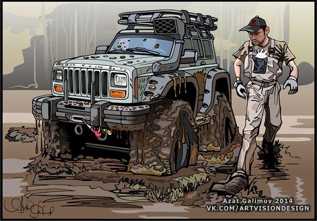 jeep cherokee. Artist - Azater