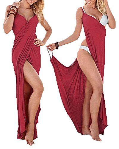 Special Offer: $12.99 amazon.com Yanekop Womens Spaghetti Strap Backless Strechy Bikini Rap Beach Dress Size chart: Small: Bust 31.4″ Waistline 25.1″ Full Length 58.6″ Medium: Bust 33.0″ Waistline 26.7″ Full Length 58.6″ Large: Bust 34.6″ Waistline...