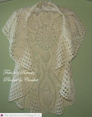 Circular Crochet Jacket - Free Crochet Diagram - (perolasdocrochet.blogspot) by Nesli Er