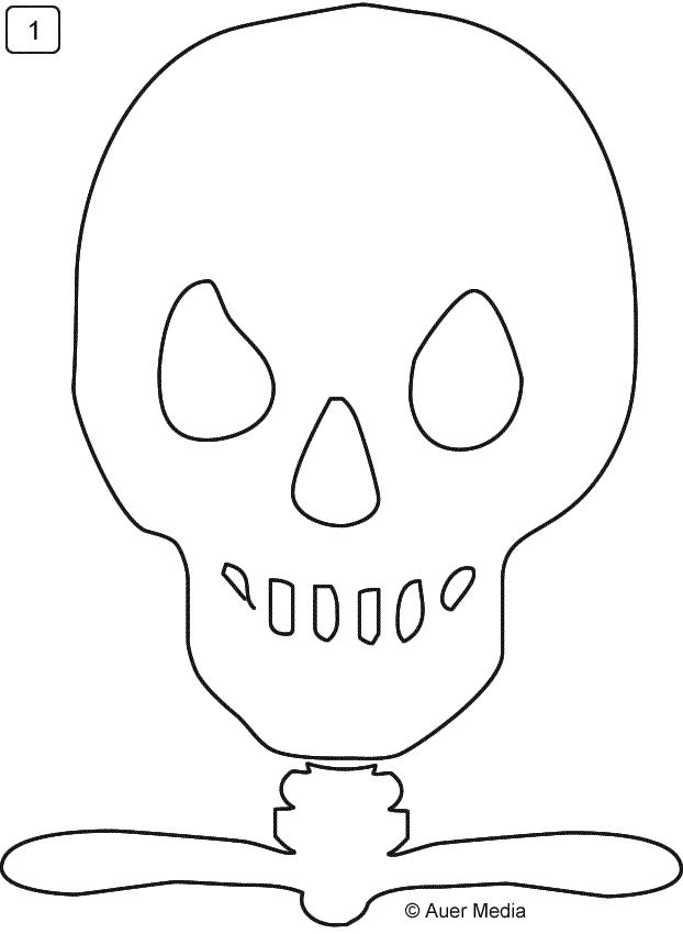 GCC Games Crafts Coloring - Parties - HALLOWEEN - Large printable skeleton