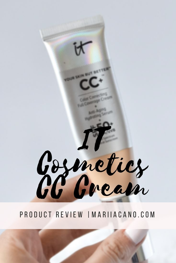 The IT Cosmetics CC Cream has been a favorite of mine for about a year now. It is good for your skin, it has SPF 30, and it looks beautiful. Even though it is a CC Cream, it can provide just as much coverage as a medium-coverage foundation. Read my full review on MariiaCano.com