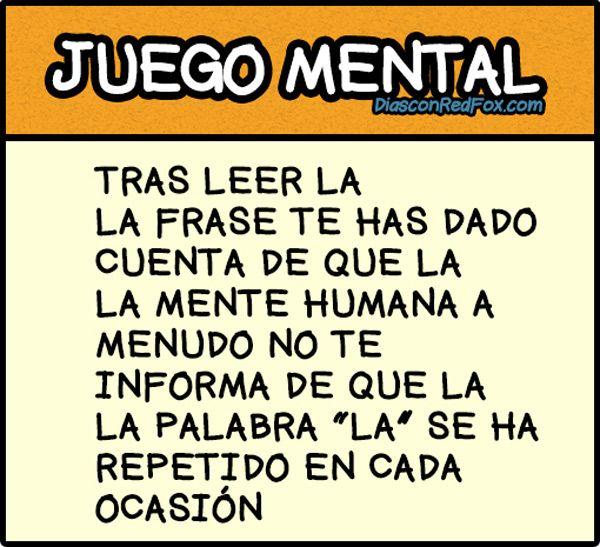 Juego mental.