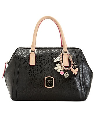 GUESS Handbag, Frosted Box Satchel - Handbags & Accessories - Macy's