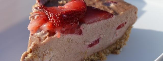 Frozen Strawberry Custard Pie- Paleo