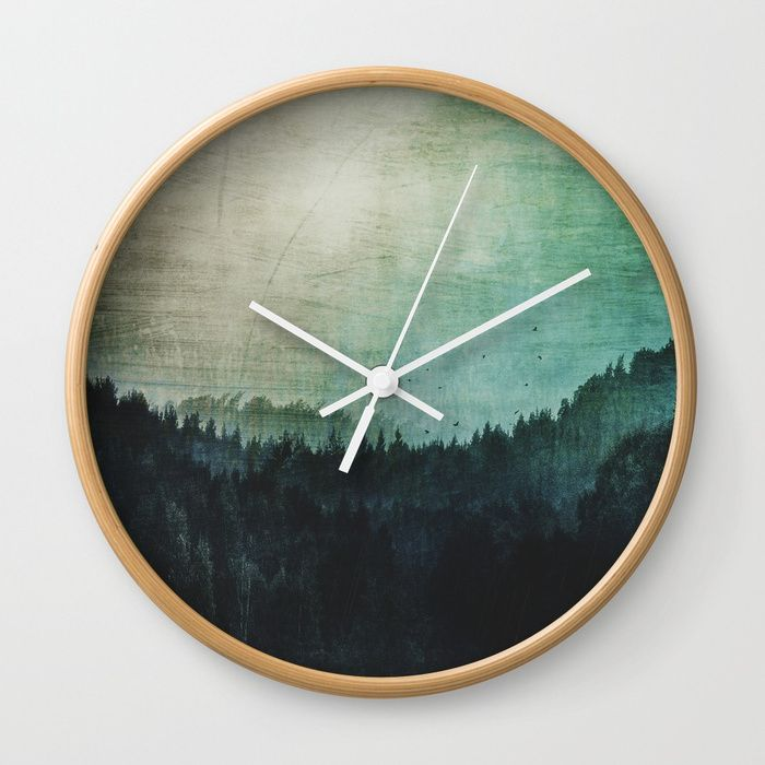 Great mystical wilderness Wall Clock by HappyMelvin | Society6