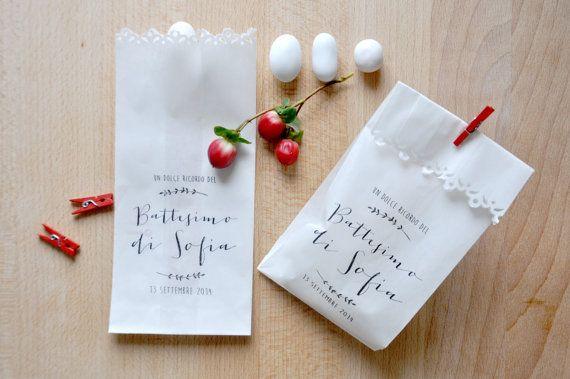 Kit of 10 custom kraft bags for weddings and by PearlsToPigeons