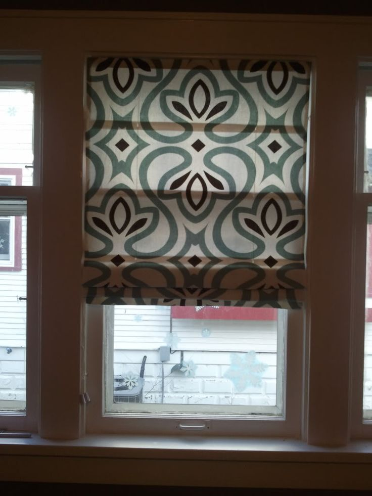 Easy sew DIY roman shades
