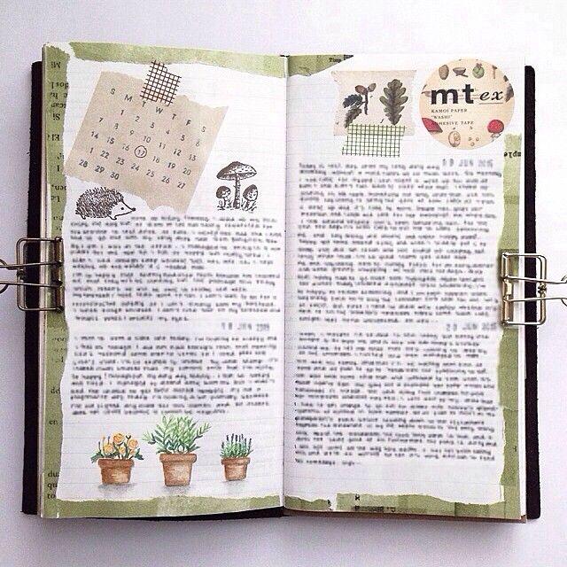 Last week's entry. #midoritravelersnotebook #travelersnotebook #planneraddict…