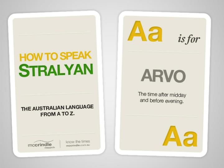 From Tassie to Straddie, from Freo to the Gong, there's one language Aussies love and share. Loved by the Sandgropers, used by the Crow eaters, embraced by the Banana benders and spoken by the Coackroaches and the Mexicans, from the Territorians to the Taswegians the language we know and love is Stralyan. So, Happy Australia Day (and that's Australia with two, or if you like three syllables, but not four!).