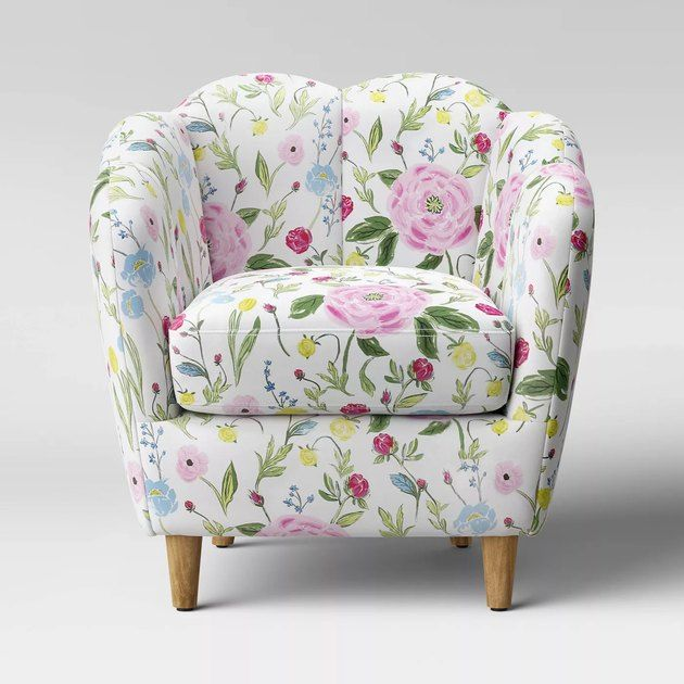 Why Is Target Stocking This Spring Pattern So Early In 2020 Hunker Upholstered Accent Chairs Accent Chairs Floral Chair