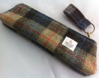 Harris tweed pencil case made in Scotland men women boys girls gift Scottish