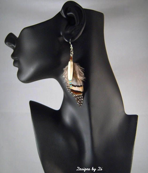 Earrings that go with the Striped Frame Necklace