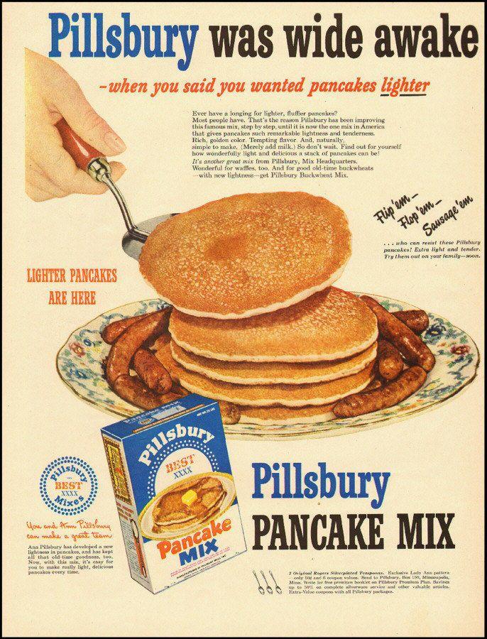 1950 ad for Pillsbury Pancake Mix